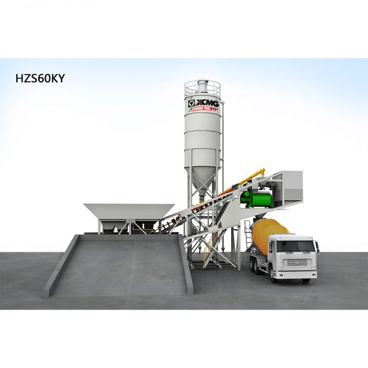 XCMG official HZS60KY Mobile concrete batching plant batching plant for sale