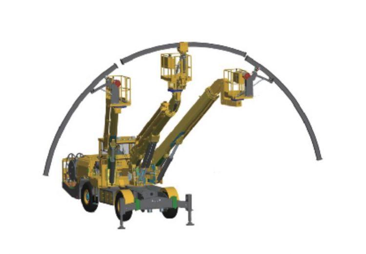 徐工集团TGC1300拱架安装台车