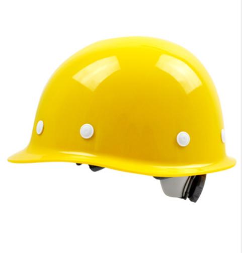 安全帽加厚玻璃钢工地建筑施工防砸劳保头盔支持定制